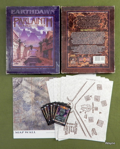 Image for Parlainth: The Forgotten City (Earthdawn) - PARTS SET
