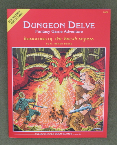 Image for Dungeons of The Dread Wyrm (Dungeon Delve Fantasy Game Adventure)