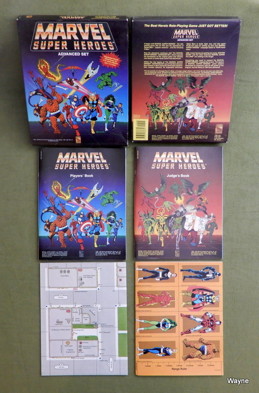 Image for Marvel Super Heroes: Advanced Set - RARE 1992 PRINTING