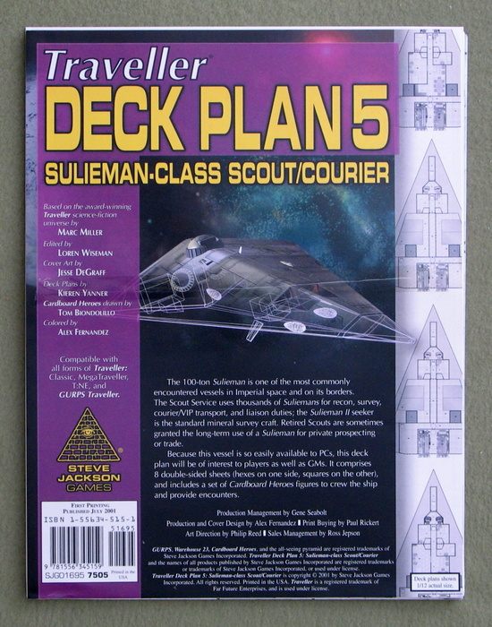 Image for Traveller Deck Plan 5: Sulieman-Class Scout/Courier (GURPS Traveller)