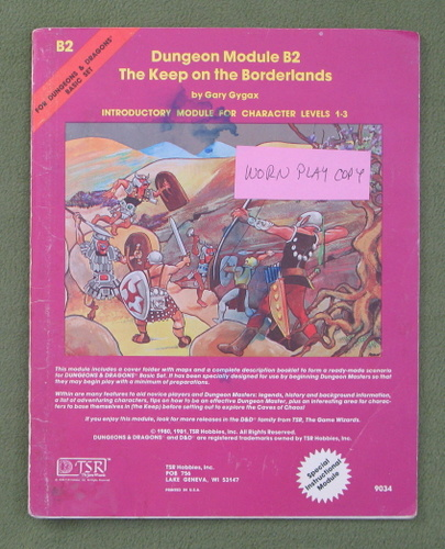 Image for The Keep on the Borderlands (Dungeons & Dragons) - HEAVY WEAR