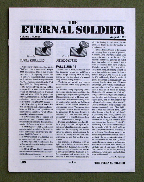 Image for Eternal Soldier, Volume 1, Number 1 (Twilight 2000)