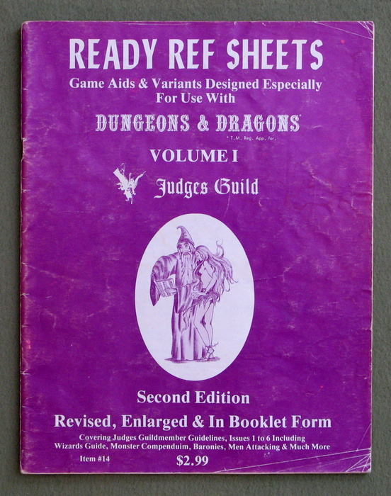 Image for Ready Ref Sheets: Game Aids & Variants Designed Especially For Dungeons & Dragons (Volume 1) - PLAY COPY
