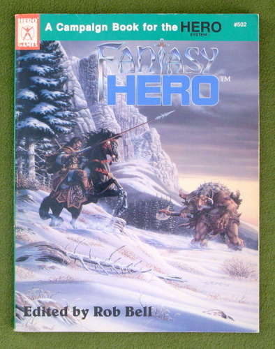 Image for Fantasy Hero: Campaign Book for the Hero System