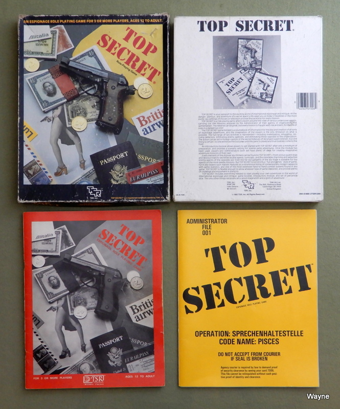 Image for Top Secret Espionage: Role-Playing Game - PLAY SET