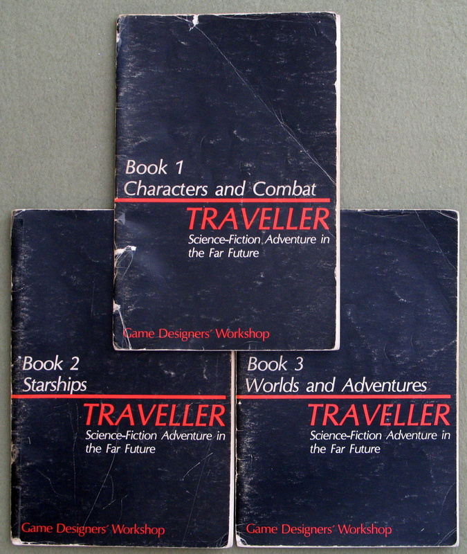 Image for Traveller: The 3 Classic Books (Characters and Combat; Starships; Worlds and Adventures) - HEAVY WEAR