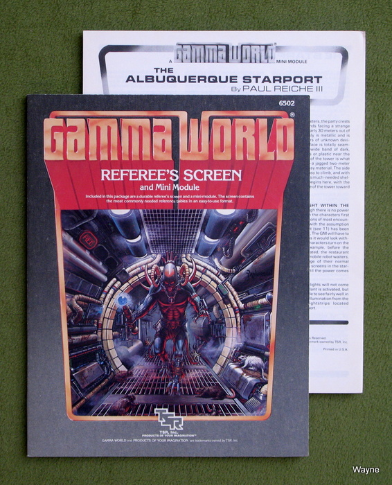 Image for Gamma World Referee's Screen and Minimodule (2nd Edition)
