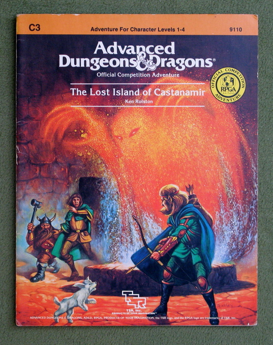 Image for The Lost Island of Castanamir (Advanced Dungeons & Dragons: RPGA Module C3) - PLAY COPY