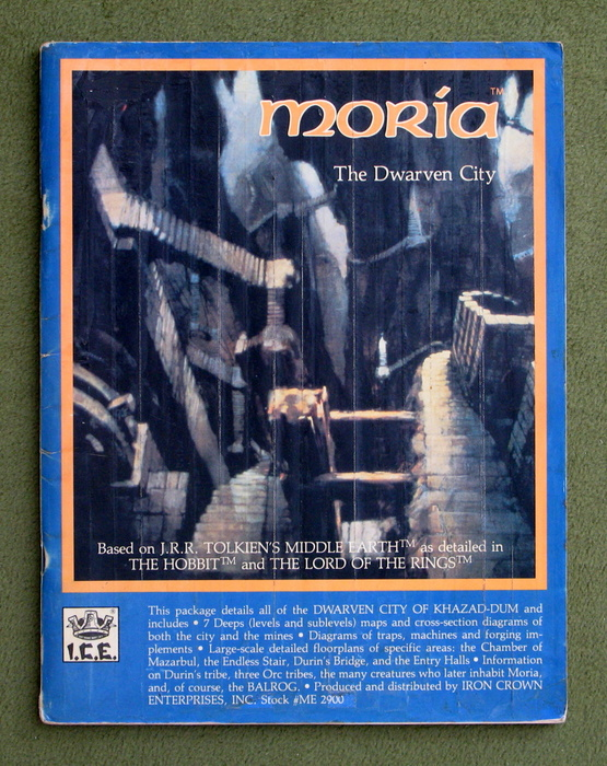 Image for Moria: The Dwarven City (Middle Earth Role Playing/MERP) - PLAY COPY