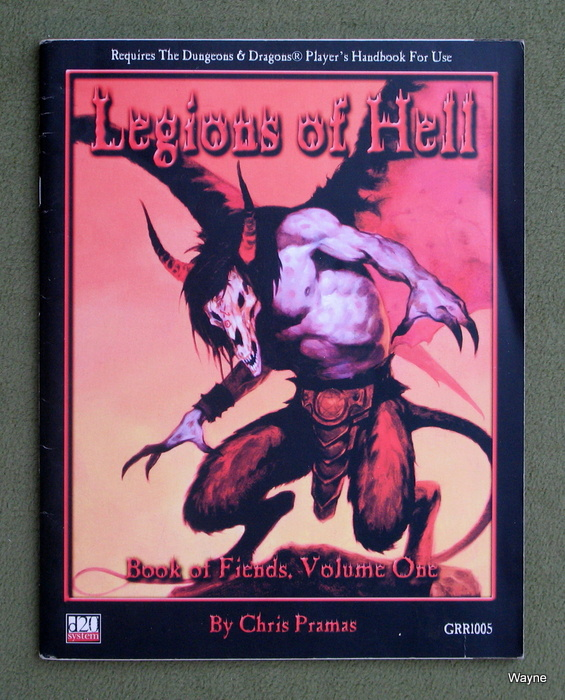 Image for Legions of Hell: Book of Fiends, Volume One (D20 System)