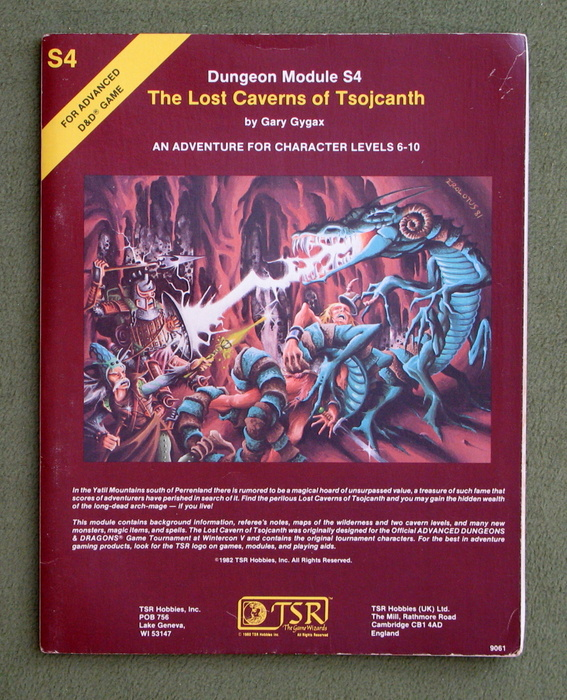 Image for The Lost Caverns of Tsojcanth (Advanced Dungeons & Dragons module S4)