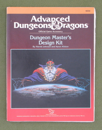 Image for Dungeon Master's Design Kit (AD&D) - PLAY SET