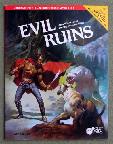 Image for Evil Ruins (Role Aids/Advanced Dungeons and Dragons)