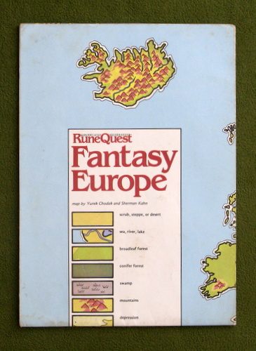 Image for MAP OF FANTASY EUROPE: Runequest (3rd) Deluxe Edition