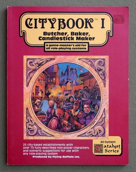 Image for Citybook, Vol. 1: Butcher, Baker, Candlestick Maker (A Game-Master's Aid for All Role-Playing Systems) - COLLECTION OF LENARD LAKOFKA
