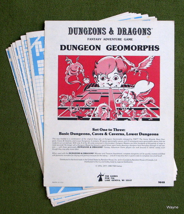 Image for Dungeon Geomorph Assortment: Set 1-3 Basic Dungeons, Caves & Caverns, Lower Dungeons (Advanced Dungeons & Dragons/AD&D) - PLAY COPY