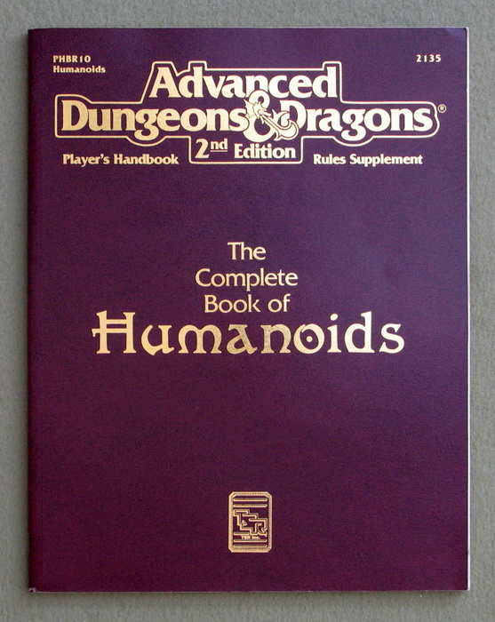 Image for Complete Book of Humanoids (Advanced Dungeons & Dragons, Player's Handbook Rules Supplement PHBR10)