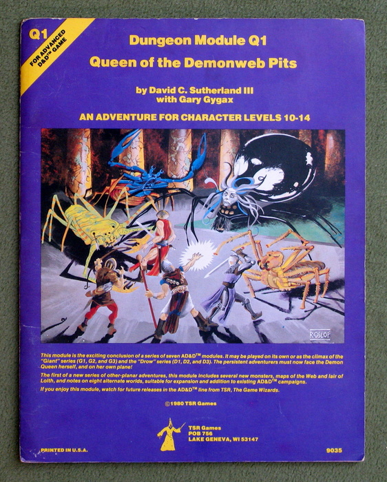 Image for Queen of Demonweb Pits (Advanced Dungeons & Dragons module Q1)