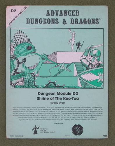 Image for Shrine of the Kuo-Toa (Advanced Dungeons & Dragons Module D2)