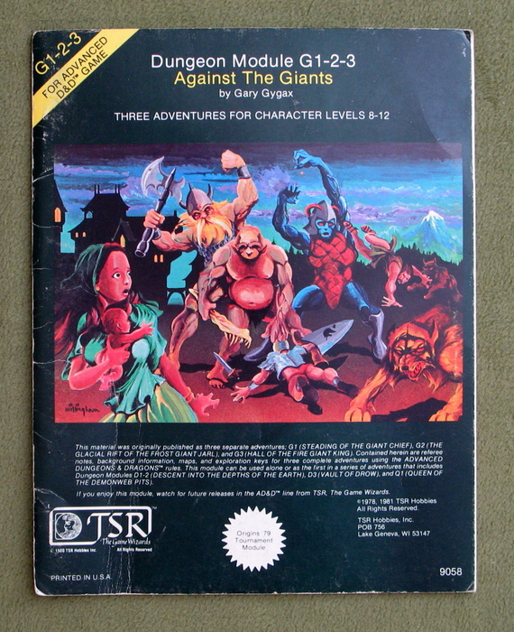 Image for Against the Giants (Advanced Dungeons & Dragons Module G1-2-3) - PLAY COPY
