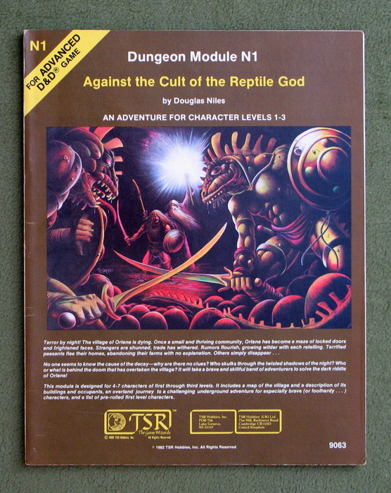 Image for Against the Cult of the Reptile God (Advanced Dungeons & Dragons Module N1)