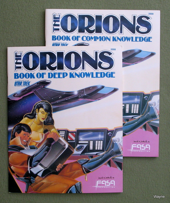 Image for The Orions: Book of Common Knowledge and Book of Deep Knowledge (Star Trek: 2-book set)