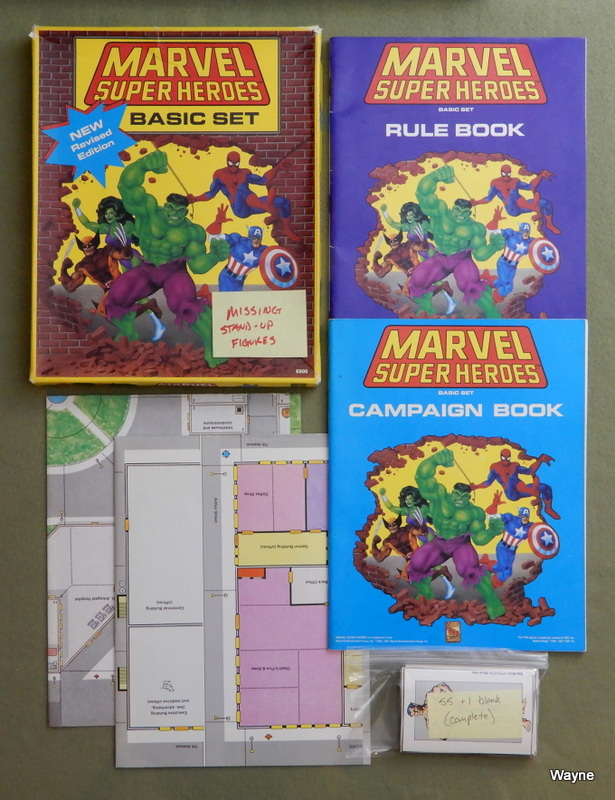Image for Marvel Super Heroes: Basic Set (Revised) - MISSING STAND-UPS; PLAY SET