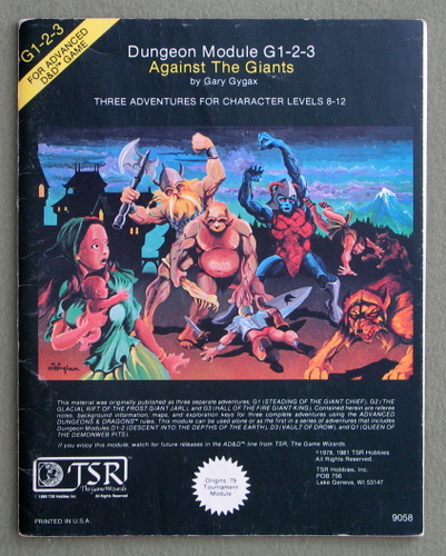 Image for Against the Giants (Advanced Dungeons & Dragons Module G1-2-3)