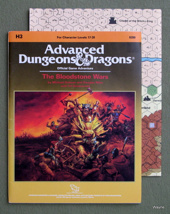 Image for Bloodstone Wars (Advanced Dungeons & Dragons Module H3)