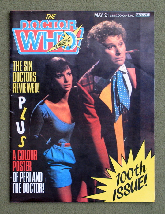 Image for The Doctor Who Magazine 100th Issue! May 1985 - Poster Of Peri & The Dr.