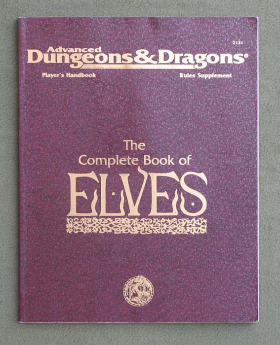 Image for The Complete Book of Elves (Advanced Dungeons & Dragons, Player's Handbook Rules Supplement PHBR8)