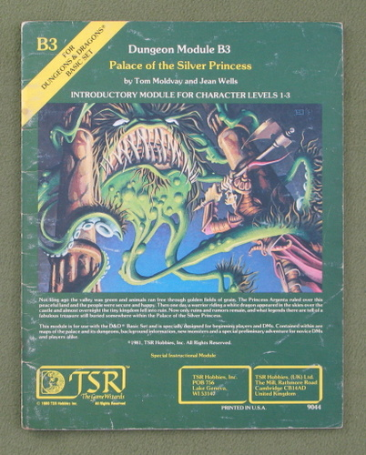 Image for Palace of the Silver Princess (D&D Module B3) - PLAY COPY