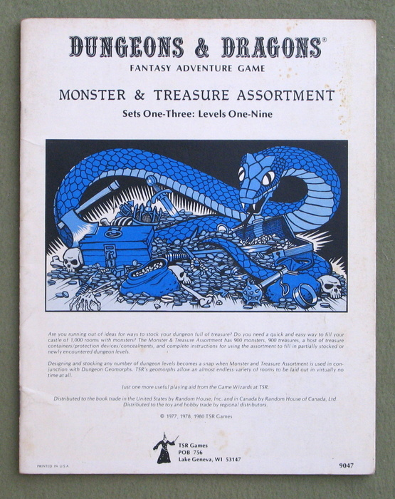 Image for Dungeons & Dragons Monster & Treasure Assortment: Set One-Three: Levels One-Nine