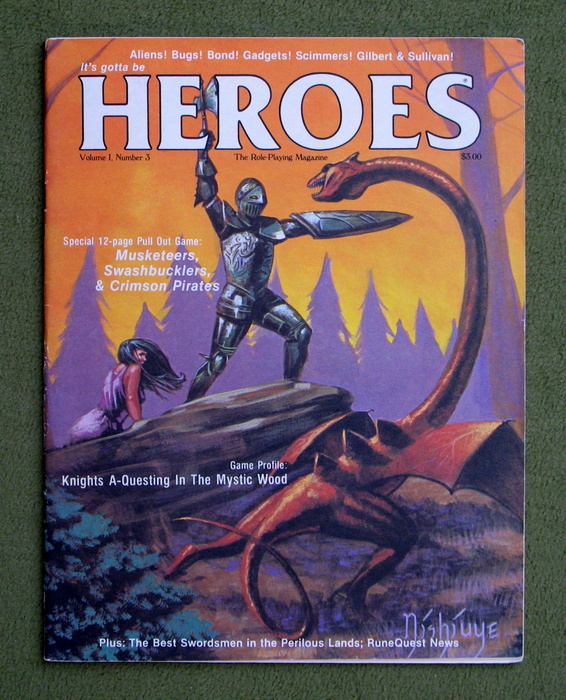 Image for HEROES Role-Playing Magazine: Volume 1, Number 3