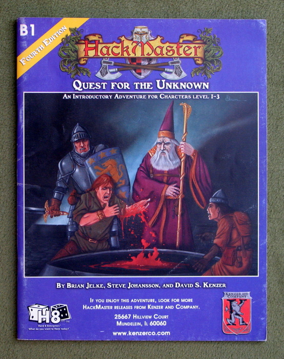 Image for Quest for the Unknown (Hackmaster Adventure B1)