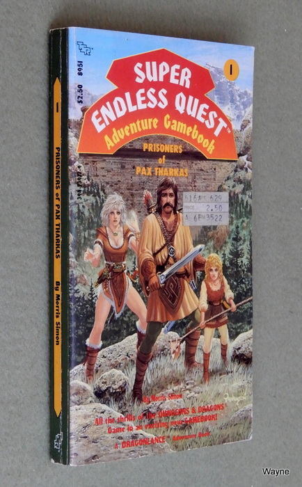 Image for Prisoners of Pax Tharkas (Super Endless Quest Book 1: Dragonlance) - MISSING BOOKMARK