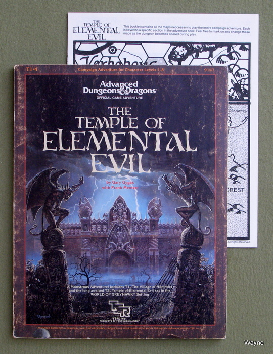 Image for Temple of Elemental Evil (Advanced Dungeons & Dragons/AD&D Supermodule T1-4) - HEAVY COVER WEAR