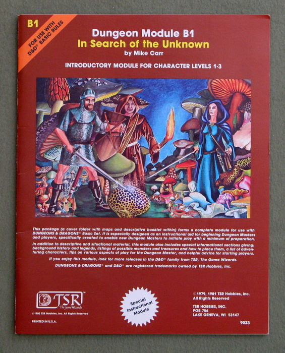 Image for In Search of the Unknown (Dungeons & Dragons Module B1)