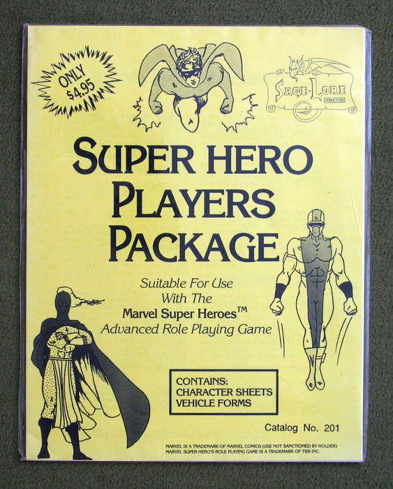 Image for Super Hero Players Package (Suitable for use with the Marvel Super Heroes advanced role playing game)