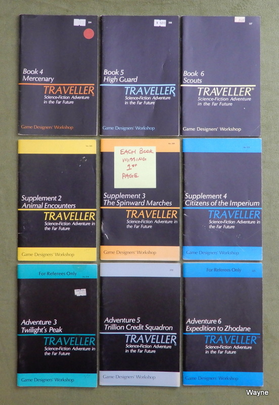 Image for Traveller 9-Book Lot - EACH IS MISSING TITLE PAGE