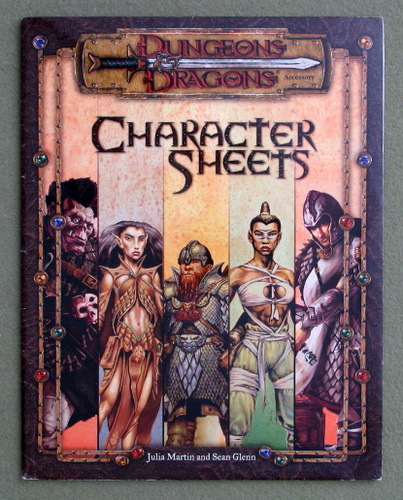 Image for Character Sheets (Dungeons & Dragons d20 System)