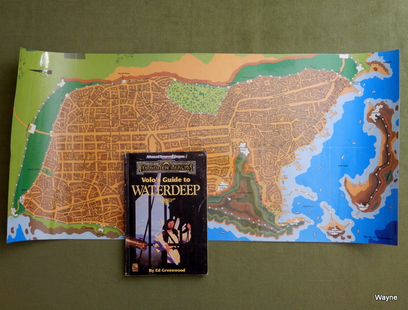 Image for Volo's Guide to Waterdeep (Advanced Dungeons & Dragons/Forgotten Realms) - LAMINATED MAP