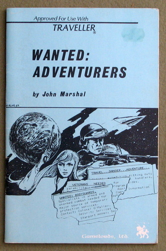 Image for Wanted: Adventurers (Traveller)