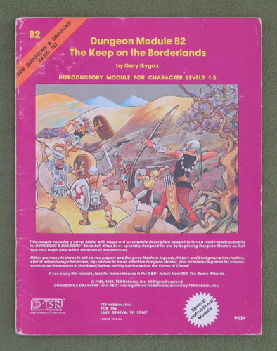 Image for The Keep on the Borderlands (D&D Module B2) - PLAY COPY