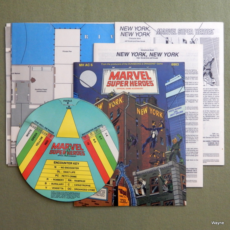 Image for New York, New York (Marvel Super Heroes Module MHAC6) - PLAY SET