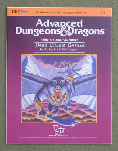 Image for Dark Clouds Gather (Advanced Dungeons & Dragons Module UK7)