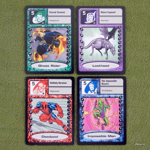 Image for RARE PROMO CARDS (4): Marvel Super Heroes Adventure Game