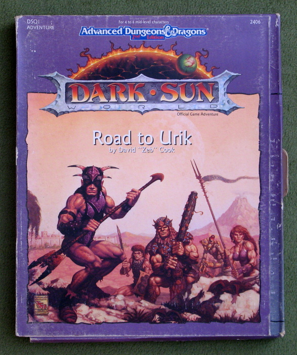 Image for Road to Urik (Advanced Dungeons & Dragons: Dark Sun Adventure DSQ1) - PLAY SET