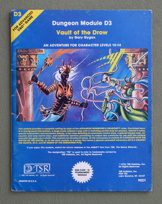 Image for Vault of the Drow (Advanced Dungeons & Dragons module D3)