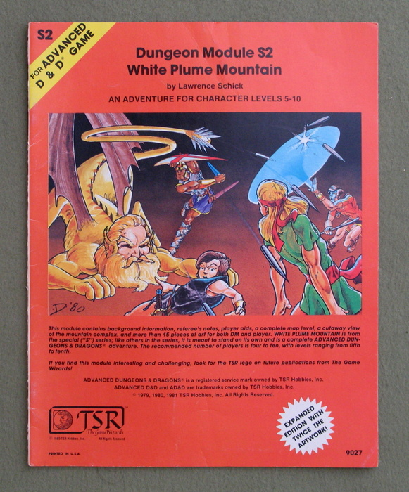 Image for White Plume Mountain (Advanced Dungeons & Dragons module S2) - PLAY COPY